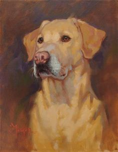 "Daily Paintworks - ""Buddy"" - Original Fine Art for Sale - © Cecile W. Morgan"