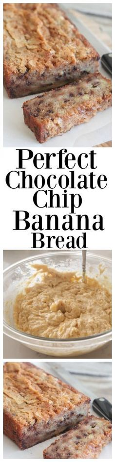 Perfect Chocolate Chip Banana Bread...the BEST!!!