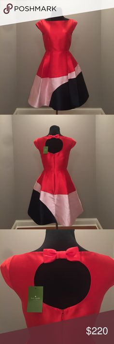 Brand new Kate Spade color block dress Size 4, never been worn! kate spade Dresses