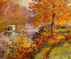 Claude Monet. The Studio Boat (1876).