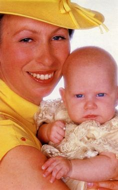 Princess Anne with her daughter, Zara Phillips, July 1981