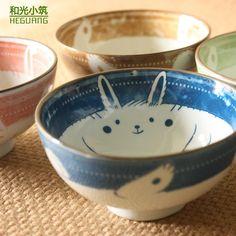 stile giapponese in ceramica e vento terrina di coniglio pappe ciotola sushi