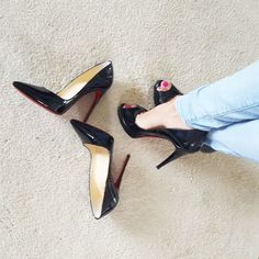I changed shoes. Check out my story lol.  #louboutins