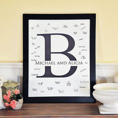 Classic Monogram Signature Frame by Beau-coup