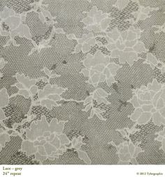 Lace in grey. Tyler Graphic. #fabric #floral #lace #black #grey