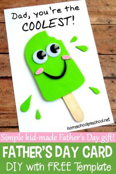 Father's Day is coming up! Let your kids show him how much he's loved. If you're looking for a fun Fathers Day craft your kids can make, I've got exactly what you're looking for right here! #homeschoolprek #fathersday #fathersdaycrafts #kidscrafts #craftsforkids #fathersdaycard https://homeschoolpreschool.net/fathers-day-craft/