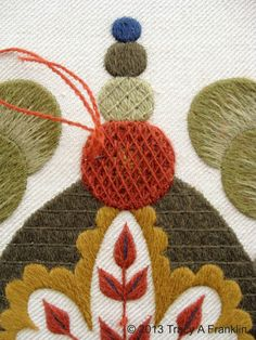 Tracy A Franklin - specialist embroiderer: Crewel work