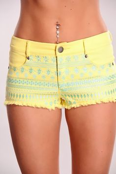 Cute shorts and belly ring