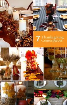 7 Easy Thanksgiving Centerpieces! So Modern and Rustic! - Creative and Fun Wedding Ideas Made Simple
