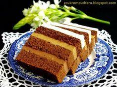 z cukrem pudrem: Ciasto kawowo - czekoladowo – rumowe