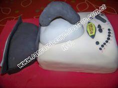 Vista lateral de la tarta