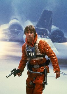 Luke's orange pilot's outfit in the swamps of Dagobah.