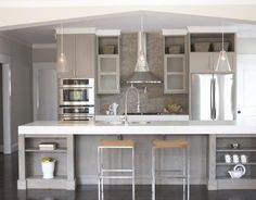 """Love the clean lines and the corian apron which looks 4"""" thick, great idea"""