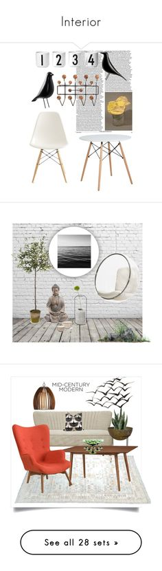 """Interior"" by buddahbar ❤ liked on Polyvore featuring interior, interiors, interior design, home, home decor, interior decorating, Charles and Ray Eames, Design Letters, Vitra and Design Within Reach"