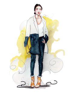 Illustration by Tracy Hetzel #fashion #watercolor #illustration