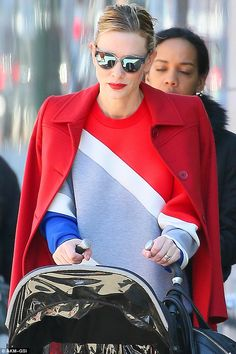Cate Blanchett never takes a day off from being fashionable. The actress looked chic as can be in bold primary colors as she left her New York apartment on her way to work.
