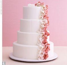 Shades of pink wedding cake.