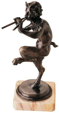 Pan, Greek God of the Forest Statue:   I'd love something like this out in the garden
