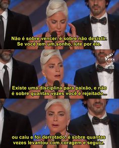 A vencedora do Oscar de Melhor Canção Original, Lady Gaga ✊🏽❤ #oscar #ladygaga #shallow Motivational Phrases, Inspirational Quotes, Motivation Sentences, Stupid Love, Bad Romance, A Star Is Born, Some Words, Greys Anatomy, Study Motivation