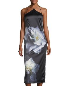 20cf3ce3f76a Shop Floral-Print Silky Slip Dress from Phoebe Couture at Neiman Marcus  Last Call, where you'll save as much as on designer fashions.