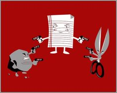 Rock Paper Scissors - Tarantino Style #cartoon