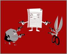 Rock Paper Scissors - Tarantino Style #cartoon