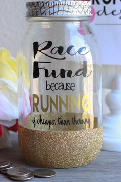 images about Race Fund Jars Money jars, Gold