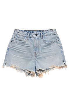 Designer Clothes, Shoes & Bags for Women Denim Shorts Style, Denim Cutoff Shorts, Denim Jeans, Cut Off Jeans, Outfit Sets, Alexander Wang, Cotton Spandex, Girl Outfits, How To Wear