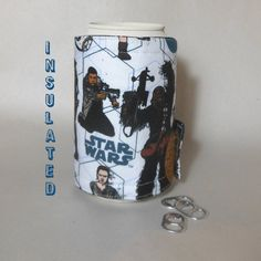 Star Wars can cozy bottle cozy The Force by DeegeeMarieGifts