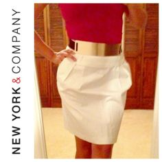 White NY & Co skirt In great condition. For everyday use.  New York & Company Skirts