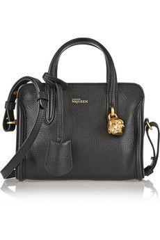 Alexander McQueen Padlock mini textured-leather shoulder bag | NET-A-PORTER
