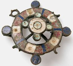 Disk Brooch, 100–300 Culture: Roman Medium: Champlevé enamel, bronze