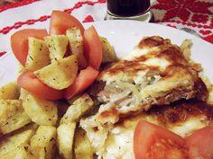 Tejfölben sült karaj Potato Salad, French Toast, Potatoes, Chicken, Vegetables, Breakfast, Ethnic Recipes, Bors, Home Ideas Decoration
