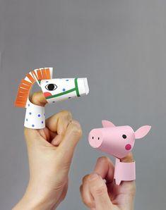 Descárgate las plantillas y elabora estos títeres de animales para jugar con los…