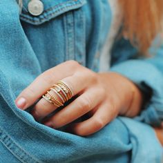 0cc089aebfddd7 Take a look at these gorgeous stacking rings, and take part in the stacking  trend