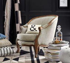 The Emily & Meritt Bergere Upholstered Armchair