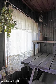 My childhood sauna, warm feeling with its rustic interior. Old and beautiful.