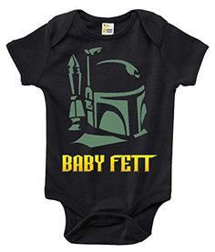 Baby Fett Cute Funny Onepiece Baby Bodysuit Star Wars Baby Clothes 36 Months Black -- You can find out more details at the link of the image.