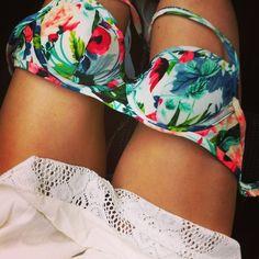 Tropical bikini top.