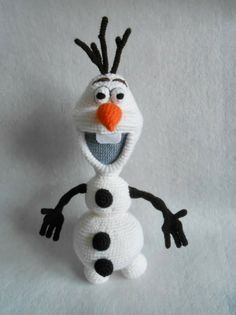 Crochet Olaf on Pinterest Crochet Olaf Hat, Frozen ...