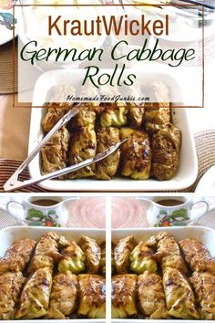 Cabbage Rolls( krautwickel) a meaty low carb dinner the whole family will enjoy.German Cabbage Rolls( krautwickel) a meaty low carb dinner the whole family will enjoy. German Cabbage Rolls, Cabbage Rolls Recipe, Cabbage Recipes, Beef Recipes, Healthy Recipes, Barbecue Recipes, Healthy Eats, Easy German Recipes, Austrian Recipes