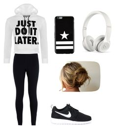 """""""Lazy Day"""" by caitlynlaycock ❤ liked on Polyvore featuring WearAll, NIKE, Givenchy and Beats by Dr. Dre"""
