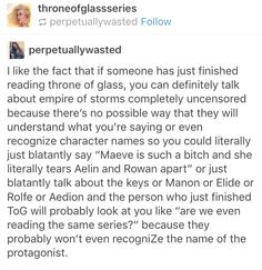 lol true <<<I know I definitely feel like the first book was a completely different series because so much has happened since then