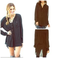 Free People NWT SOLD OUT COLOR  Amazing and SEXY oversized Boyfriend Tunic  Free People Tops Tunics