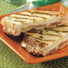 """Prosciutto Provolone Panini Recipe -During the busy holiday season, I like to make this """"uptown"""" take on grilled cheese sandwiches for a quick lunch or dinner. If you don't have fresh sage handy, substitute with 1 tablespoon of Italian seasoning. —Candy Summerhill, Alexander, Arkansas"""