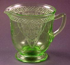 Monax depression glass   items in Depression Glass Elegant Glassware Colored Vintage Patterns ...