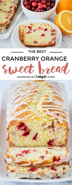 This delicious cranberry orange sweet bread recipe is so easy to make and perfect for parties or gifting! It's tender and sweet and loaded with cranberries!