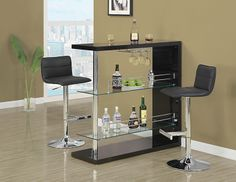 Monarch 2366 - Black/ Chrome Metal Hydraulic Lift Barstool 2 Pieces | Sale Price: $149.00