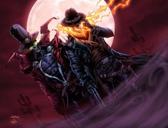 Gunslinger Spawn/ Western Ghost Rider/ BA color by vic55b.deviantart.com on @deviantART