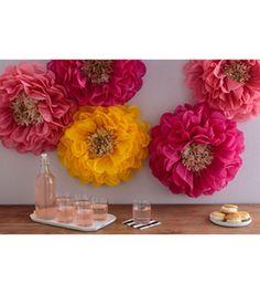 Martha Stewart Tissue Paper Pom Pom Kit- Chrysanth Flowers